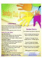 Sunday Club Update
