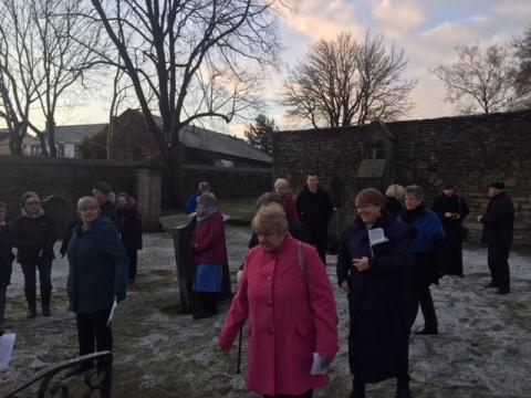 Early Easter morning in the Auld Kirk Yard
